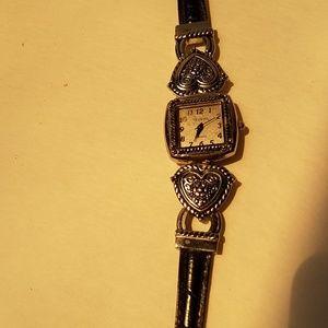 Geneva western black strap watch